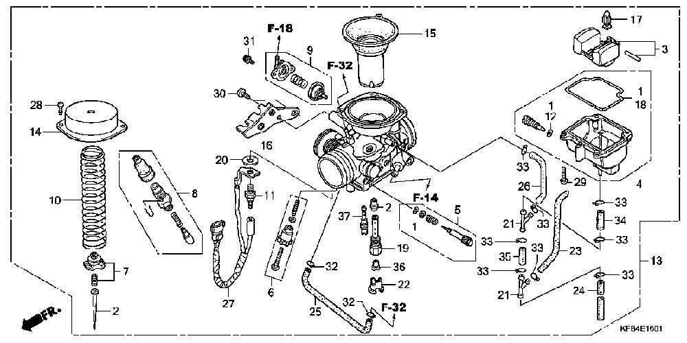 Honda Recon Carburetor Diagram Car Interior Design